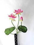 Искусственные цветы лотос 2  головки и бутон., фото 5