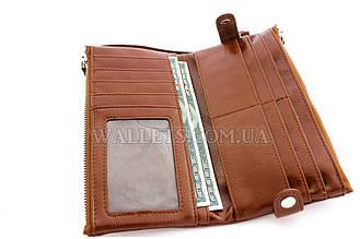 Женский кошелек с ручкой на заклепках