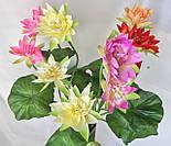 Искусственные цветы лотос 2  головки и бутон., фото 7