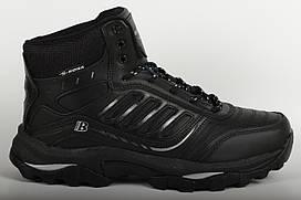 Ботинки кроссовки мужские мех черные Bona Размеры 41 42 43 44