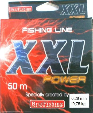 Рибальська волосінь Братфишинг XXL Power, 0,28 мм, довжина 50м.