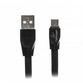 Кабель Cablexpert (CCPB-M-USB-01BK) USB 2.0 A - microUSB, премиум, плоский, 1м, черный