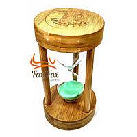 Годинник пісочний 10 хв зелений пісок (17х9х9 см)