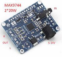 Усилитель D-класс max9744 2*20Вт питание 5-14В 4-8Ом підсилювач аудіо модуль плата, фото 1