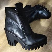 Элегантные ботинки на устойчивом каблуке, фото 1