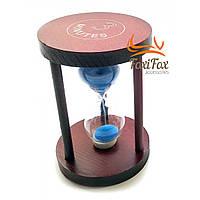 Годинник пісочний 3 хв синій пісок (7х7х10см)