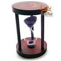 Годинник пісочний 3 хв фіолетовий пісок (7х7х10см)