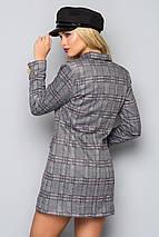 Женское двубортное платье в клетку (5010 bej), фото 2