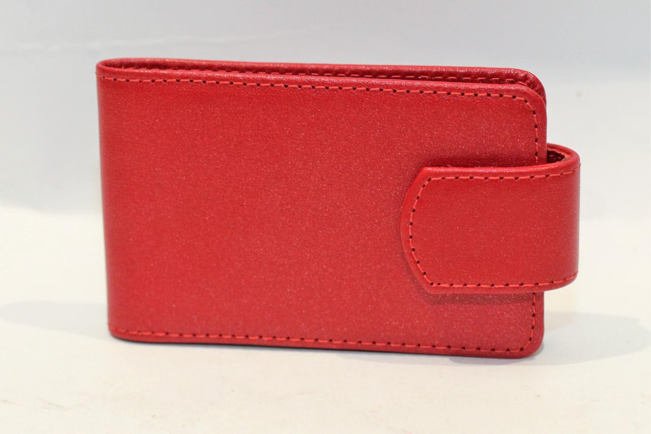 Визитница красного цвета на 20 карманчиков (13376)