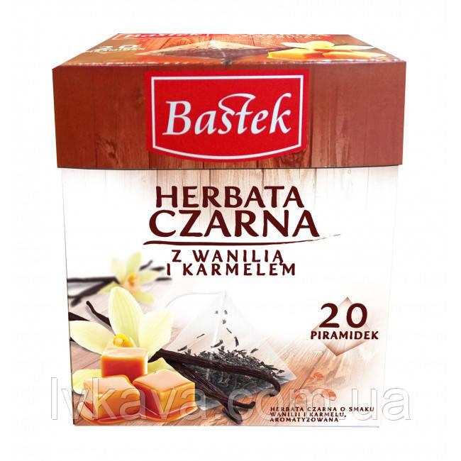 Чай черный Czarna Bastek с ванилью и карамелью, 20 пак