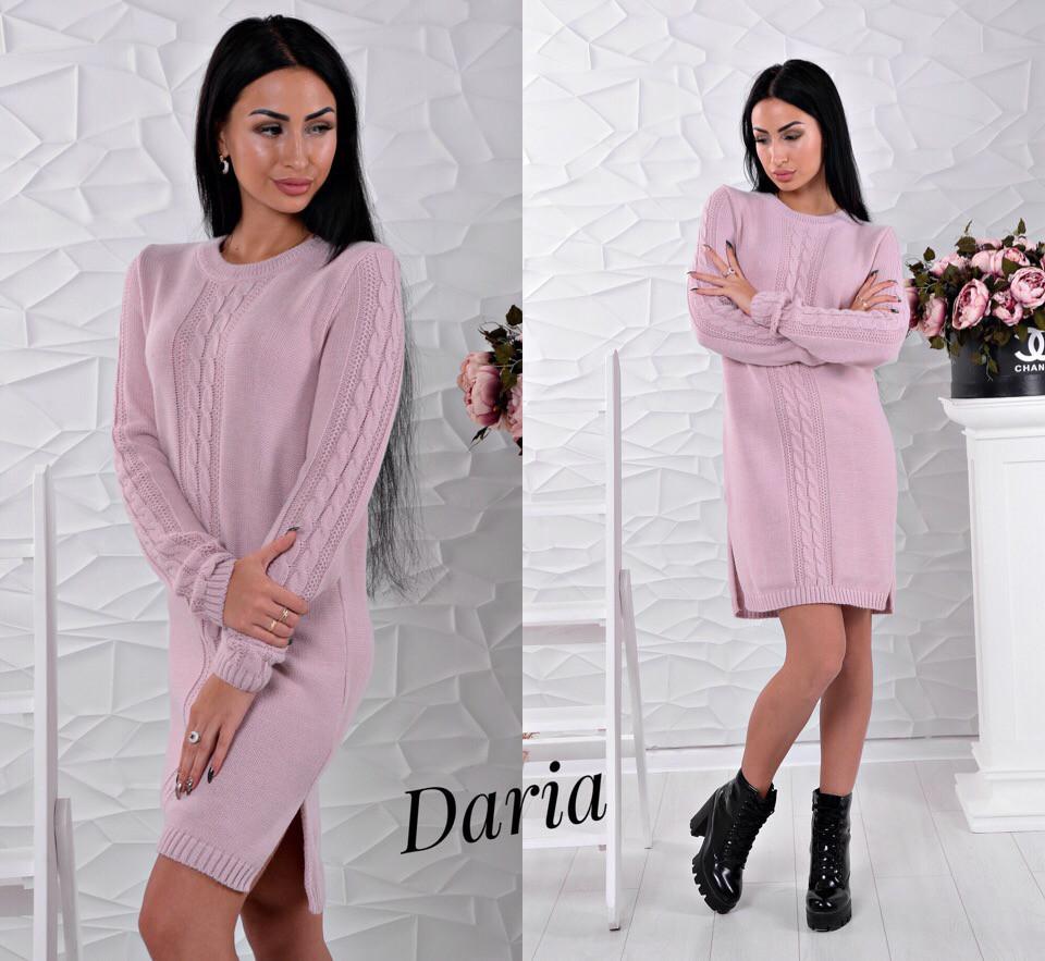 33277c859c6 Стильное вязаное платье розового цвета Daria  продажа