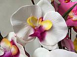 Орхидея искусственная 5 голов,  бархатная , фото 6
