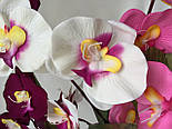 Орхидея искусственная 5 голов,  бархатная , фото 8