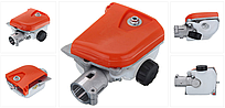 Насадка пила для мотокоси, штанга D=26 мм, редуктор на 9 шліців (без шини і ланцюга)