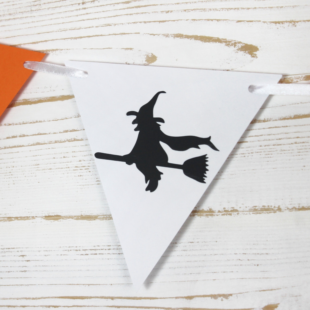 Гирлянда на Хеллоуин 10 флажков