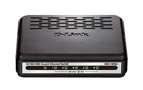 Коммутатор D-Link DGS-1005A (5*GE, plastic)
