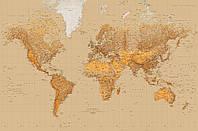 Фотообои фотошпалери Wizard & Genius 623 Карта мира 175х115 бумажные