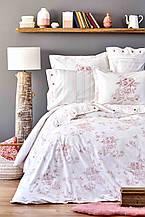 Постельное белье Karaca Home перкаль Brisa 2018-2 pudra пудра евро размер