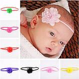 Ментоловая повязка на голову для детей - на 0-3 года, бантик 5см, фото 2