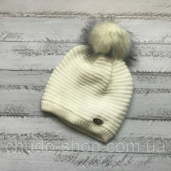 Детская шапка для девочки (возраст 3- 5 лет)