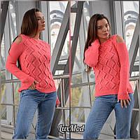 Женский свитер Анна, коралл, фото 1