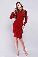 Стильное вязаное платье  р.42-46  , фото 1