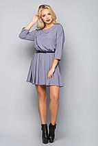 Женское однотонное шелковое платье (5011-5012 bej), фото 3