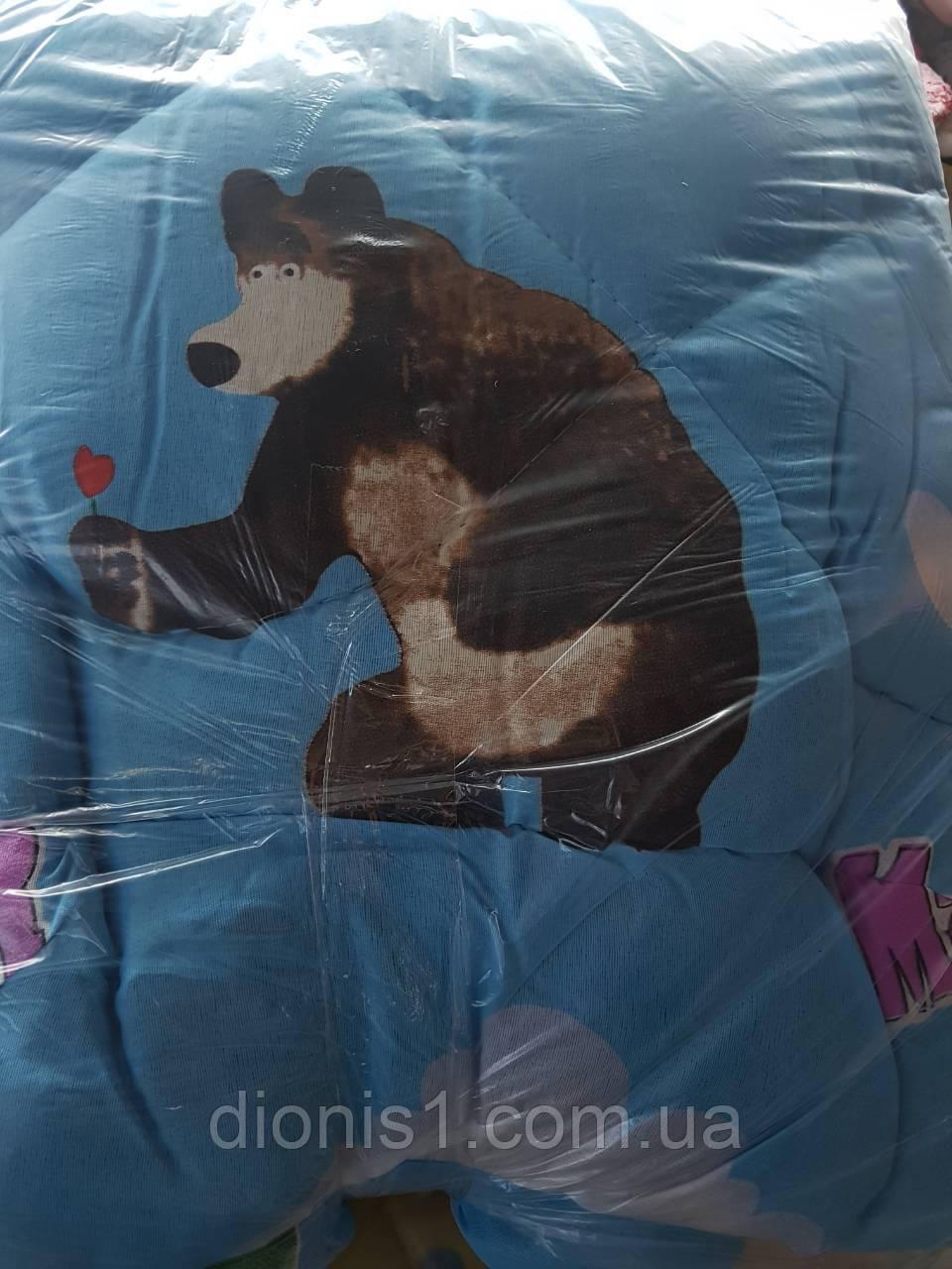 Ковдра дитяче ліжечко з подушкою 45х45. розмір 100х140 силікон кольори в асортименті