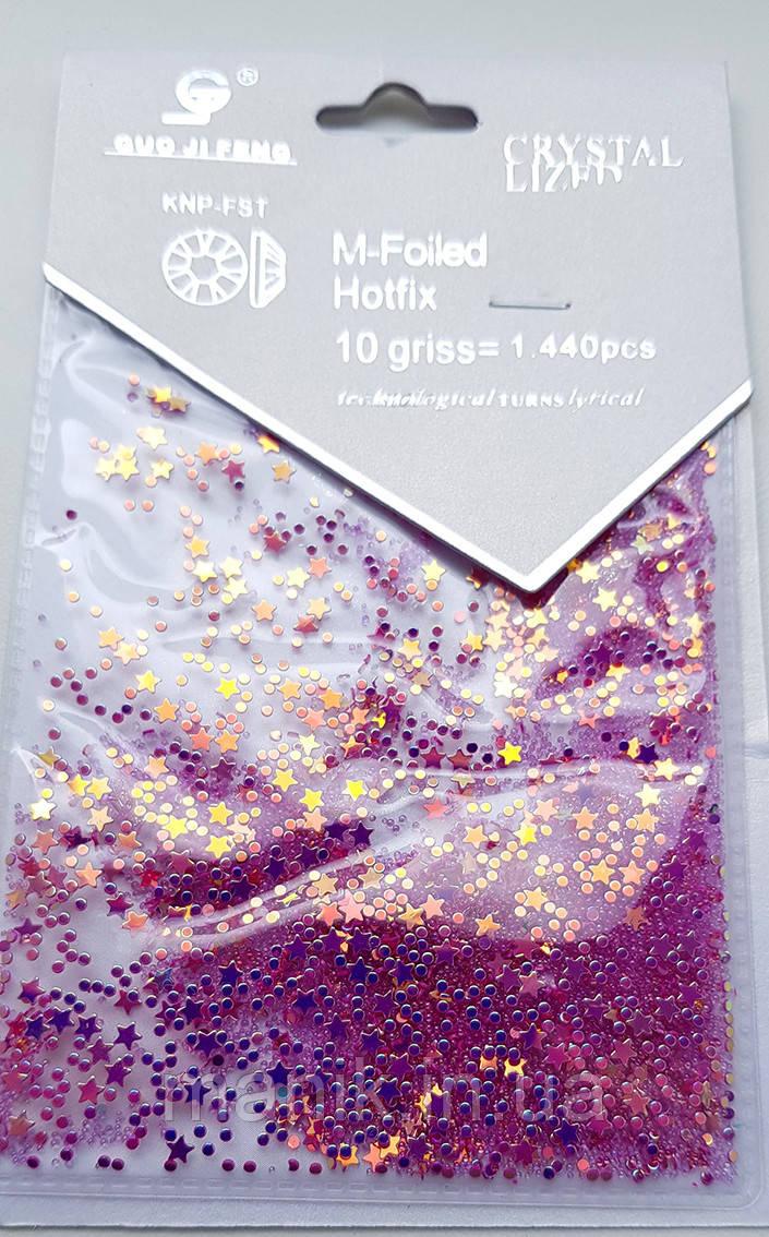 Набор декора микс, фиолетовый, №003