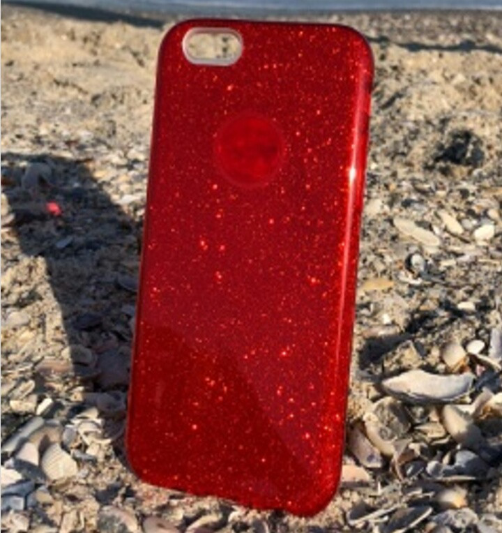 Чехол накладка Shine для Xiaomi Redmi 5 plus красная