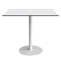 База стола Lotus Round d60x73 см белая Papatya, фото 1