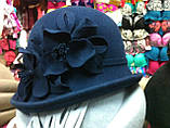 Фетровая шляпа с полями завернутыми вверх, фото 10