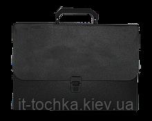 Пластиковый портфель a4 35мм buromax bm.3735-01 черный jobmax