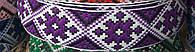 Тесьма жаккардовая с украинским орнаментом, цвет фиолетовый (ширина 3 см, моток 25 м), фото 1