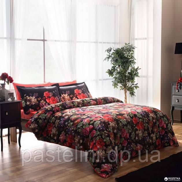 ТАС Digital евро комплект постельного белья сатин Despina Red