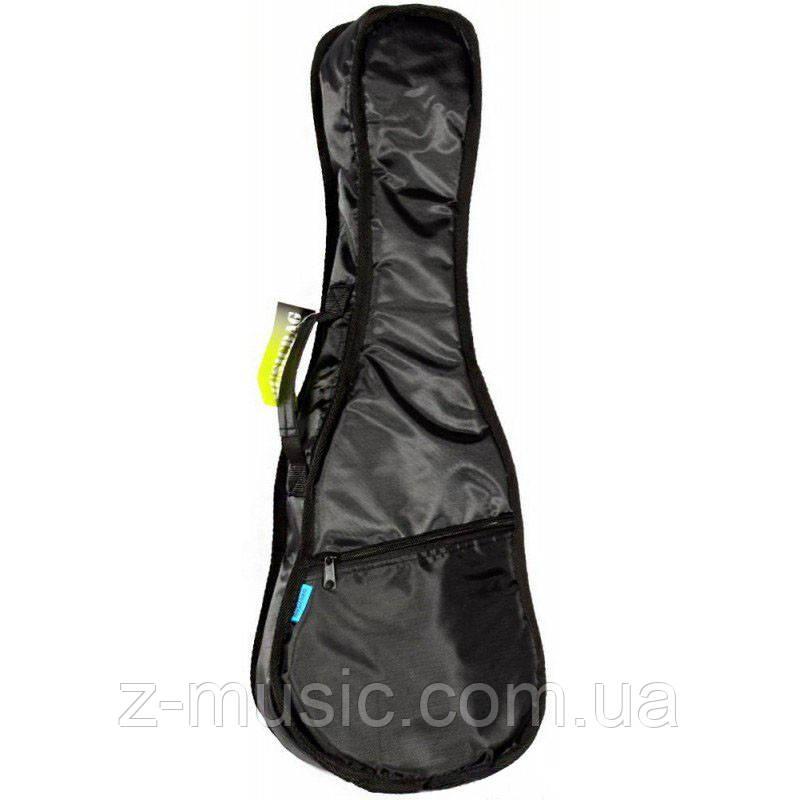 Чехол для укулеле концертной MusicBag UKG24-Y,  утепленный черный