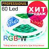 Светодиодная лента  RGB-W/белая (6500K) премиум 5050-60, негерметичная