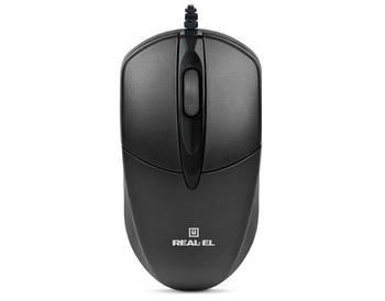 Мышь REAL-EL RM-211 Black USB UAH