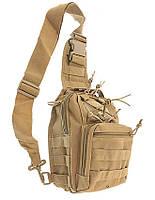 Тактична наплічна однолямочная сумка MFH 30700R Coyote
