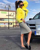 Модная шубка шуба, полушубок с натуральных перьев страуса s, m, l, xl, xxl, фото 1