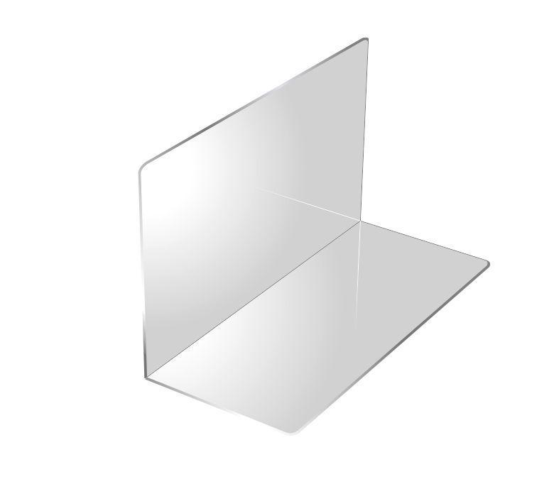 L-разделитель для полок акрил 500мм * 150мм * 150мм б/у