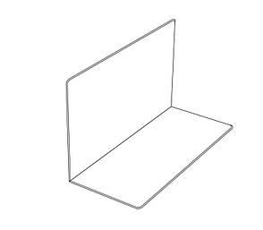 L-разделитель для полок акрил 500мм * 150мм * 150мм б/у, фото 2