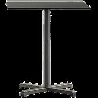 База стола Plus 63x63x73 см матовая антрацитовая Papatya, фото 1