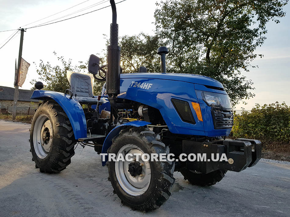 Трактор T244HF, 25 л.с., 4Х4, гидроусилитель руля, широкие колеса. Бесплатна доставка. Супер цена!
