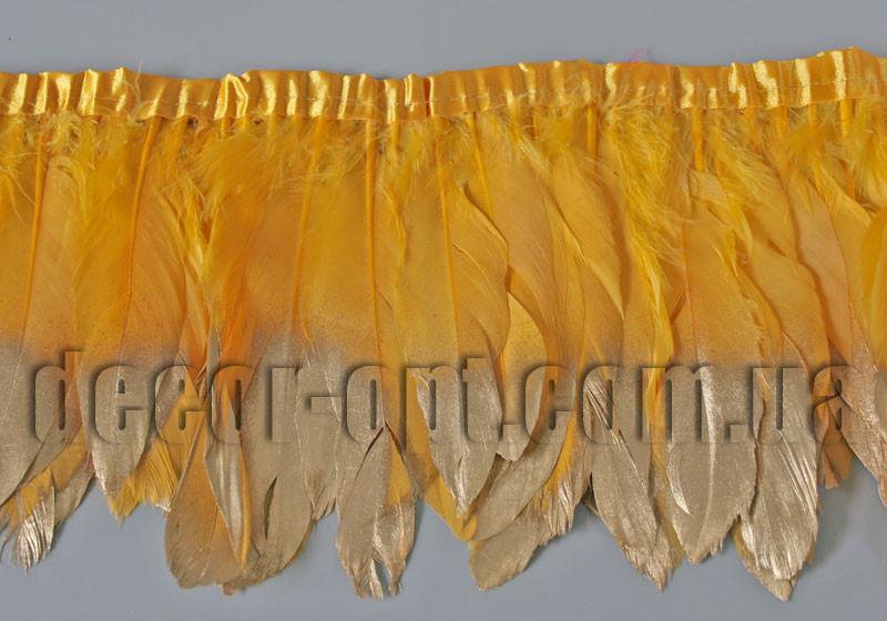 Перо-юбка кукурузная с бронзовыми кончиками 17-19см/2ярд.