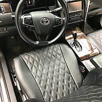 Авточехлы из экокожи Автолидер для  Audi A 3 8P с 2003-2013г. хэтчбек 3 дверей  РОМБ