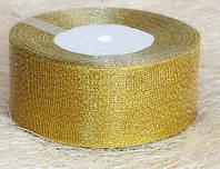 Лента парча, золото (ширина 4 см, моток 23 м)
