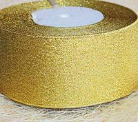Лента парча, золото (ширина 5 см, моток 23 м)