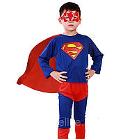 Детский карнавальный костюм Супермен Супер Мен 1-6 лет. Размеры: С,Л