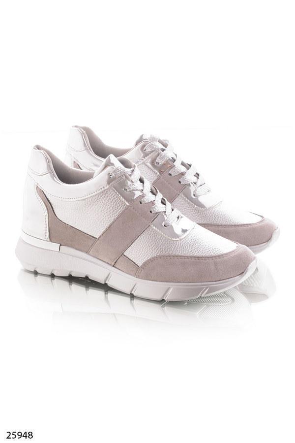 c686781fc ... Женские стильные кроссовки серые с серебром эко-замша+эко-кожа , фото 3  ...